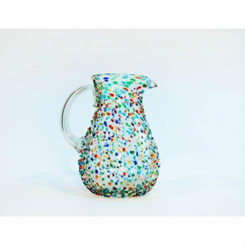 Rose Ann Hall Designs  Confetti Pear Pitcher $58.00