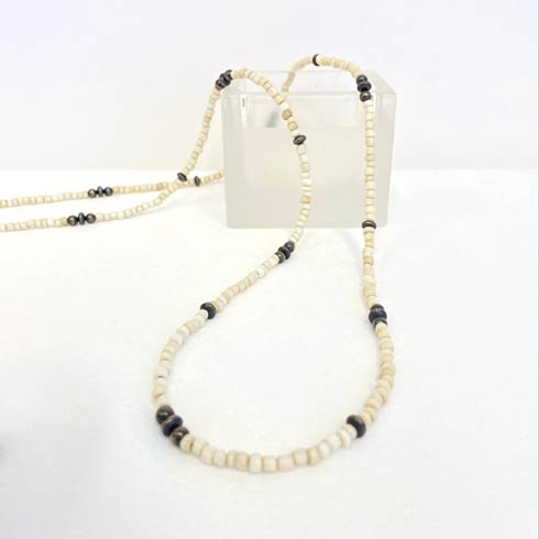 $168.00 Cream Beads with Sterling Silver Navajo Pearls Necklace