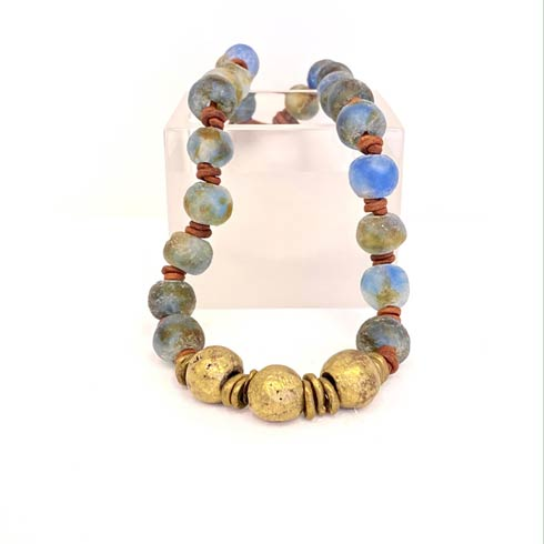 Sea Glass with 3 Brass Beads Choker collection with 1 products