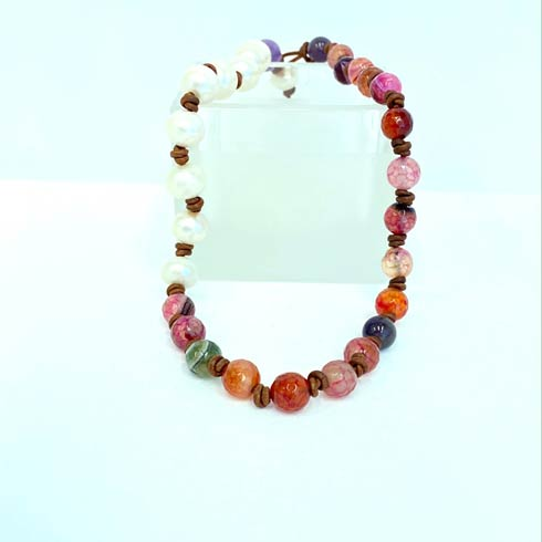 Pearl and Pink Stone Choker collection with 1 products