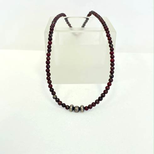 $62.00 Gem and Sterling Silver Navajo Pearl Choker