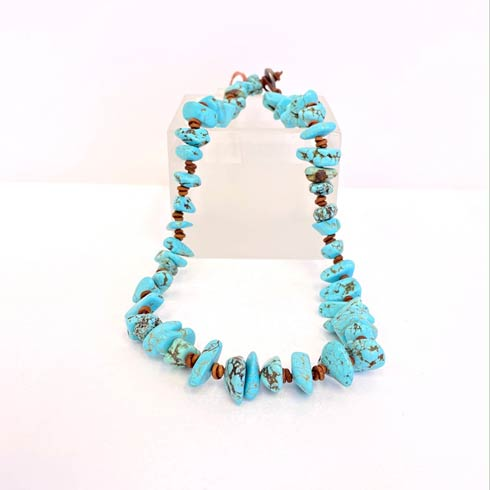 $189.00 Large Turquoise Chip Choker