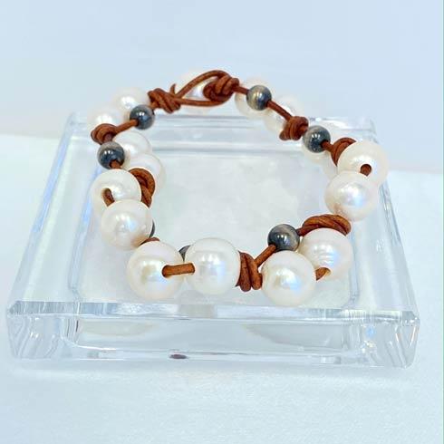 $64.00 Pearl and Navajo Pearl Weaved Bracelet