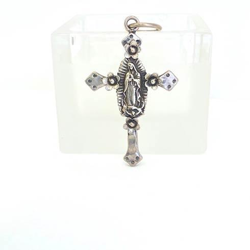 $248.00 Sterling Silver Virgen de Guadalupe Cross Pendant