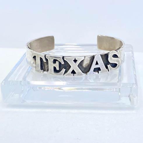 $250.00 Sterling Silver TEXAS Cuff Bracelet, 10mm