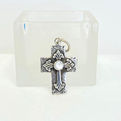 $245.00 Sterling Silver Cross and Mother Of Pearl Pendant