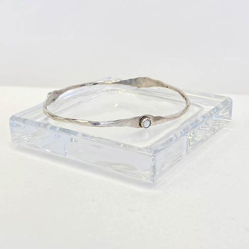 $98.00 Sterling Silver and Mother Of Pearl Bangle