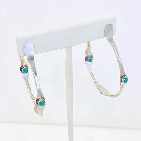 $188.00 Sterling Silver and Turquoise Earrings