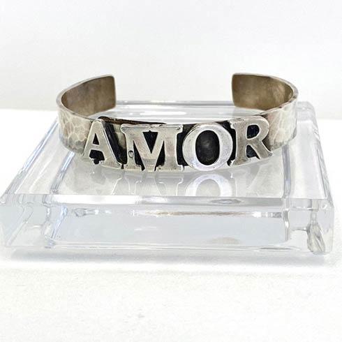 $250.00 Sterling Silver AMOR Cuff Bracelet, 10mm