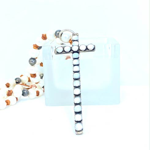 $425.00 Sterling Silver and Mother Of Pearl Cross Pendant