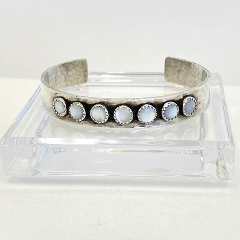 $258.00 Sterling Silver with Mother Of Pearl Cuff Bracelet, 10mm