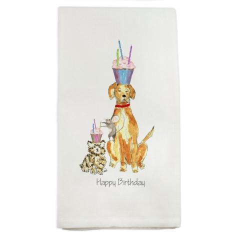 $16.00 Happy Birthday Animals Towel