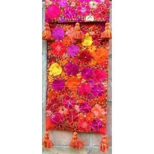 $215.00 Orange Floral Runner
