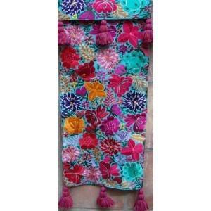 $215.00 Aqua Floral Runner