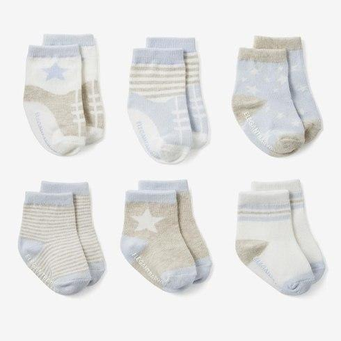 $34.00 Baby Blue Socks, Set of 6