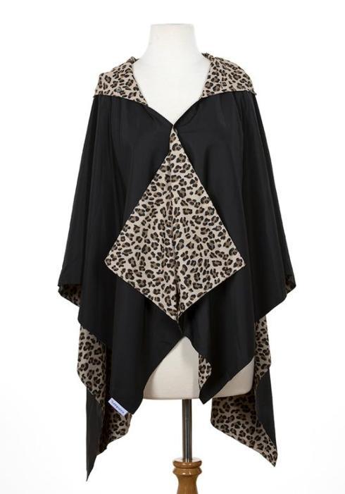 $65.00 Black & Leopard Rainrap