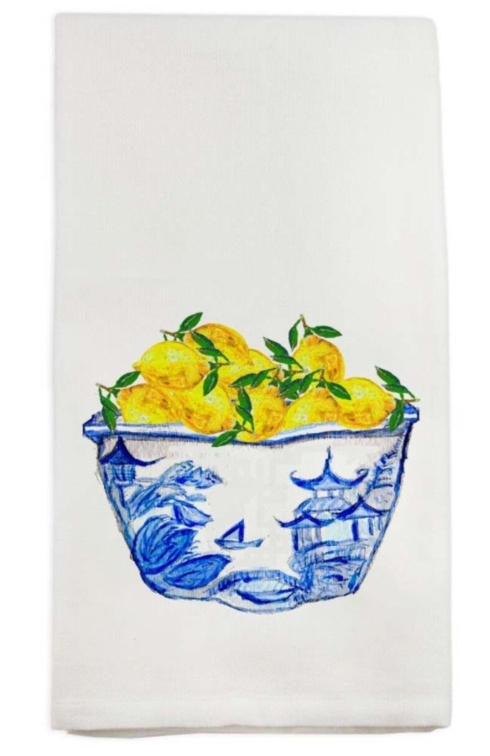 $16.00 Bowl with Lemons Dish Towel