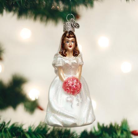 $12.99 Bride (Brunette) Ornament