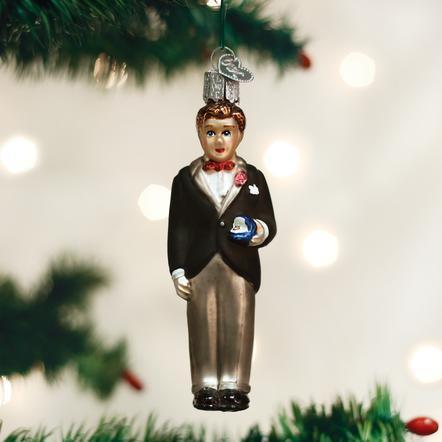 $12.99 Groom (Brunette) Ornament