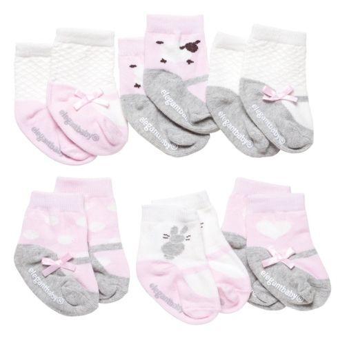 $34.00 Cutie Pink Socks, Set of 6