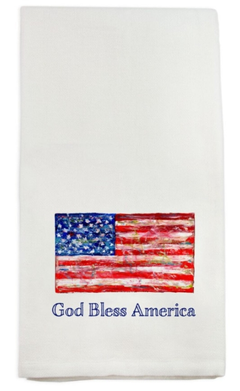 $16.00 God Bless America Dish Towel