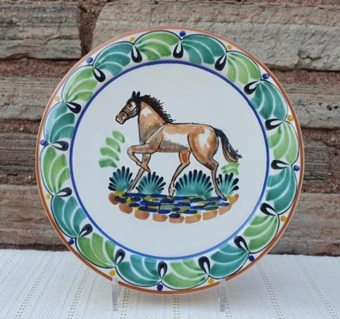 Gorky Pottery   Gorky Horse Dinner Plate Assorted $41.00