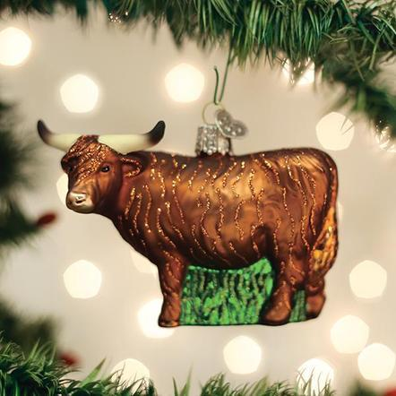 $21.99 Highland Cow Ornament