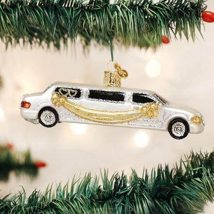 $12.99 Just Married Limo Ornament