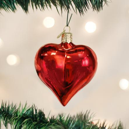 Large Shiny Red Heart Ornament collection with 1 products