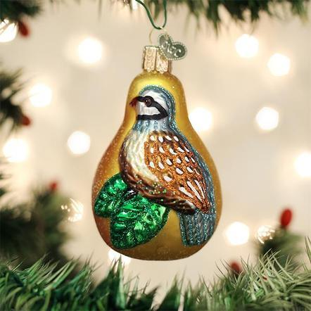 $15.99 Partridge in a Pear Ornament