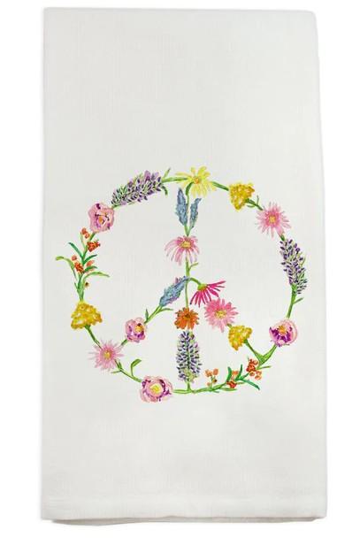 $16.00 Peace Floral Dish Towel