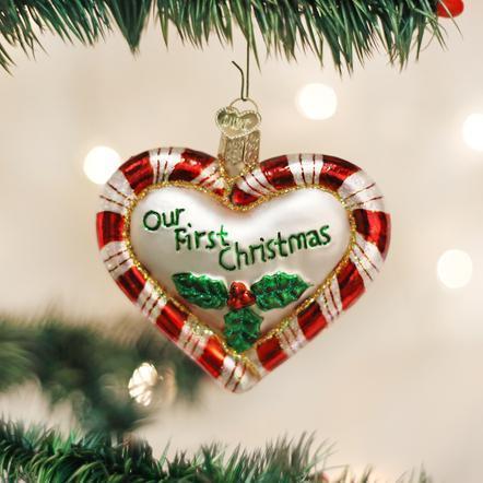 $13.99 Peppermint Heart Ornament