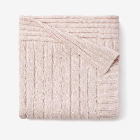 $52.00 Pink Cable Knit Blanket