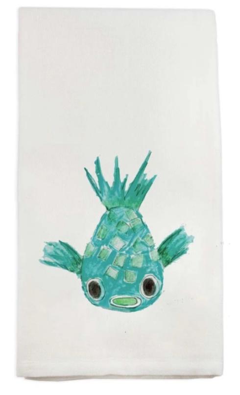 $16.00 Puffer Fish Dish Towel
