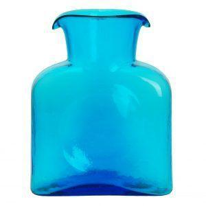 $54.00 Blenko Turquoise Water Bottle/Pitcher