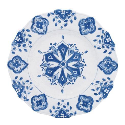 $19.00 Melamine Moroccan Blue Dinner Plate