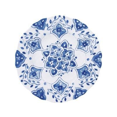 Le Cadeaux   Melamine Moroccan Blue Salad Plate $14.00