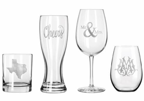 Maple Leaf at Home   Personalized Stemless Wine Glasses $15.00