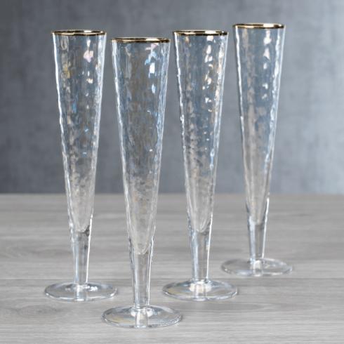 $64.00 Aperitivo Luster Champagne Flute Set/4