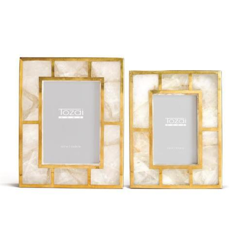 White Quartz Frame w/ Brass- Large