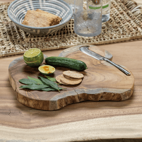$130.00 Bali Teak Root Serving Board with Knife