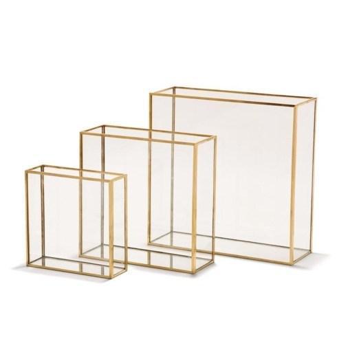 Two\'s Company   Window Square Vase w/ Gold - Medium $36.00