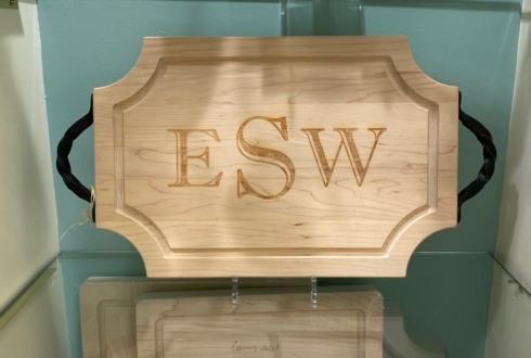 Maple Leaf at Home   Scalloped Cutting Board,18x12, Monogramed w/ Handles $161.00