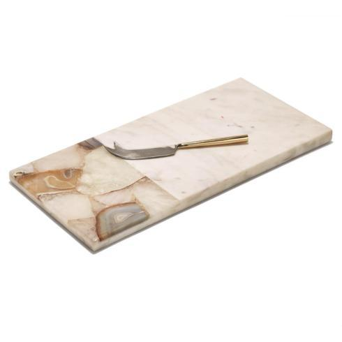$110.00 Agate & Marble Cheese Board w/ Knife