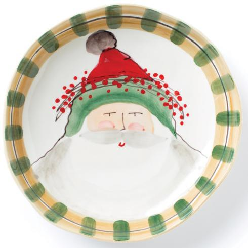 The Containery Exclusives   Vietri Old St. Nick Dinner Plate- Green Hat $58.00