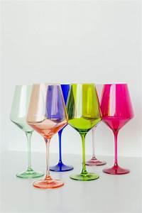 Estelle Colored Glass   Multi Stemmed Wine Glasses $175.00