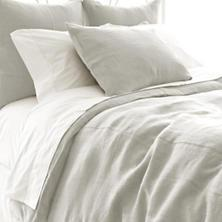 $88.00 Stone Washed Linen Sham (Pearl Grey)