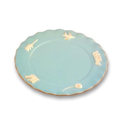 $36.00 Whisker Plate - Sky Blue