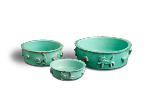 Food/Water Bowl - Aqua/Green