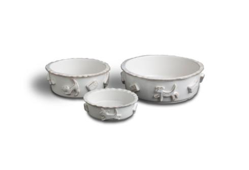 Food/Water Bowl - French White